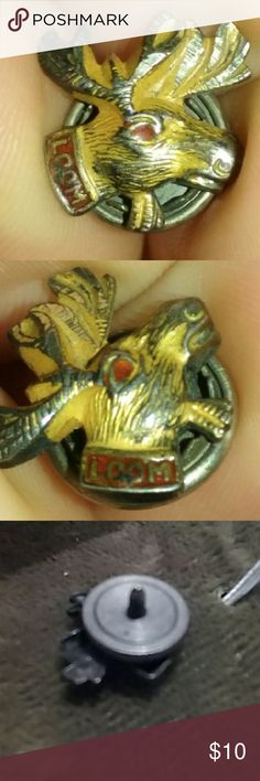 Loyal Order of Moose tie tack This is a vintage Loom or Loyal Order of Moose this cherished piece of History can be seen through its distressed worn appearance. The back class is missing Accessories Jewelry