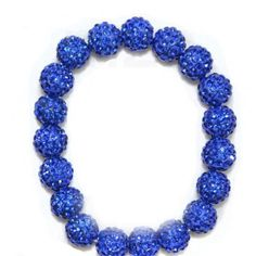 Royalblue Crystal Shamballa BraceletMicro Pave Disco by Youchic, $9.78
