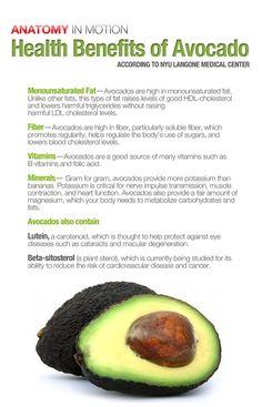 Benefits of avocados. Yum