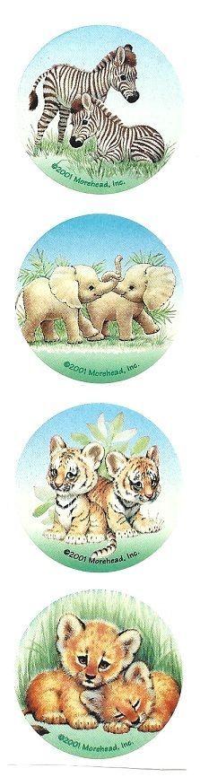 Ruth Morehead Stickers - BABY ANIMALS