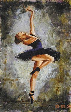 """Люди, ручной работы. Ярмарка Мастеров - ручная работа. Купить Картина маслом """"Аврора"""". Handmade. Комбинированный, балет, балерина, танец"""