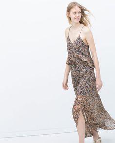 LONG PRINTED DRESS-Maxi-Dresses-WOMAN | ZARA United Kingdom