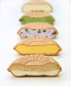 ice bean jam filled Japan wafers. アイスモナカ