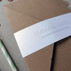 Pocketfold Wedding Invitation Suite  Love by TheLovePaperCo, £4.50