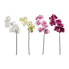 IKEA - SMYCKA, Kunstig blomst, Vellignende kunstig blomst, der bliver ved med at se frisk og smuk ud i mange år.Du kan bøje og arrangere blomsten, som du vil, for den har ståltråd i stilken.Stilken kan afkortes med en bidetang.