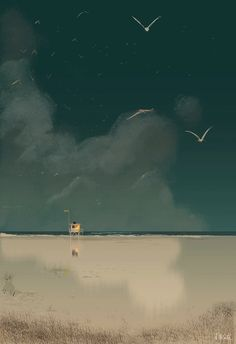 Pascal Campion, Far far away. Mary Cassatt, Pierre Bonnard, Henri Matisse, Vincent Van Gogh, Landscape Illustration, Illustration Art, Claude Monet, Pascal Campion, Nature View