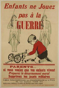 Affiche éditée par la Ligue Internationale des Combattants de la Paix
