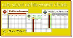 Cub Scout Achievement Charts