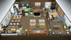 The Jones family winter vacation cabin - Front view of the basement - in my Sims Freeplay