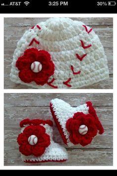 adorable baseball theme baby girl set