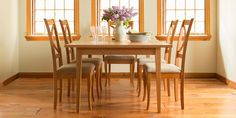 Our high-end, expertly crafted Classic Shaker Butterfly Extension Dining Table features clean, straight lines and smooth, taper legs that look elegant in any setting. This classic design, combined with sustainably harvested, solid wood construction make this table a responsible and classy choice for your home.
