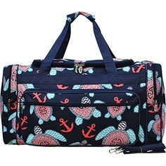 Sea Turtle Anchor Print NGIL Carry on Shoulder 23 Duffle Bag ** Want to know more, click on the image.
