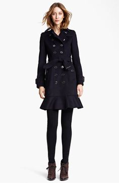 Burberry London Double Breasted Wool & Cashmere Trench Coat available at #Nordstrom