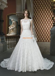 1570324360ad Cheap bridal gown, Buy Quality lace wedding dress directly from China  vestido de noiva Suppliers: 2015 Romantic Sheer Neck Lace Wedding Dresses A  Line ...