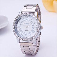New Hot Fashionable handsome wise amazing wonderful Hot Women's Crystal Bracelet Stainless Steel Analog Quartz Wrist Watch // #Affiliate