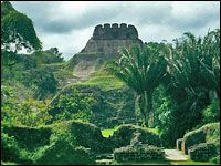 Xunantunich Mayan Ruins in Cayo district of Belize near the Guatemala border
