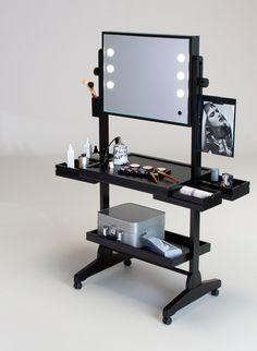 Portable Vanity Mirror With Lights Gorgeous Fetoo Trifold Illuminated Led Lighted Vanity Mirror Makeup Wide Review