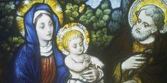 Representación de María con halo de santidad