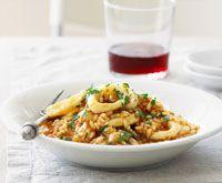 Calamari and tomato risotto