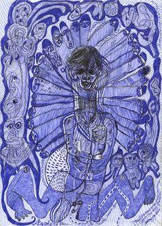 cavinmorrisgallery: Noviadi AngkasapuraUntitled, 2014Ink on found paper11.75 x 8.5 inches29.8 x 21.6 cmNoA 122http://www.cavinmorris.com