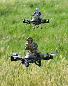 Skywalker vs. Stormtrooper: Endor Speeder Bike Quadcopter Battle - Make: | Make: