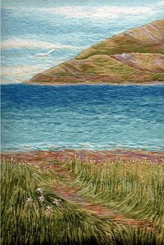Création et réalisation:Christiane Plamondon Hallé - Herzlich willkommen Ribbon Embroidery, Embroidery Thread, Cross Stitch Embroidery, Machine Embroidery, Thread Painting, Thread Art, Art Du Fil, Needlepoint Stitches, Needlework