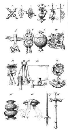 Wappenkunst - Heraldik : Ordenzeichen / Heraldic Order Insignia of Knighthood / Heráldica : Insignias de las Ordenes Caballerescas
