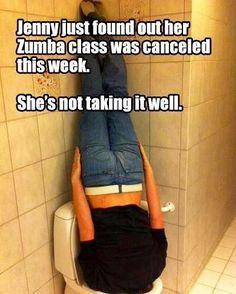 Zumba class cancelled