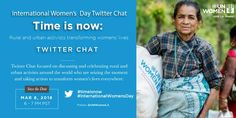 "March 8 - International Women's Day   @UNWOMENLA's Twitter Chat: ""Time is Now: Rural and Urban Activists Transforming Women's Lives.""    When: Thursday, March 8th, 6-7 pm Where: Twitter (@UNWOMENLA) Hashtags: #timeisnow and #IWD2018"