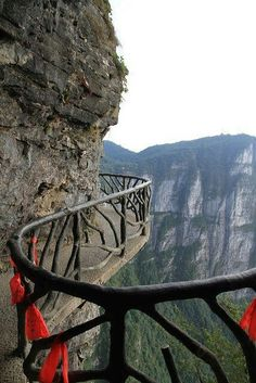 Walkways of Mount Tianmen, Zhangjiaji, China