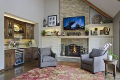 Remodel Stories: Family Room Transformation - A perfect example of how a good designer can transform a home with cabinetry.    – Dura Supreme Cabinetry Designed by Meghan Murphy of Trilogy Kitchens and Remodeling in Arlington Heights, IL