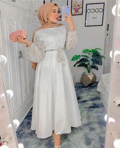 Hijab Dress Party, Hijab Evening Dress, Islamic Fashion, Muslim Fashion, Modesty Fashion, Fashion Dresses, Hijab Fashion, Hijab Elegante, Mode Turban