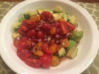 Tomato, Red Onion & Avocado Salad