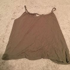 Old Navy Tank Top Cute Old Navy Tank top. Very soft comfortable material. Olive Green color. Size Large. Old Navy Tops Tank Tops