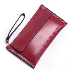 Hot Sale 2014 New Brief zipper Design Women Genuine Leather Wallet Day Clutch Purse Sac a Main Portefeuille Bolsa Umhangetasche $19.99