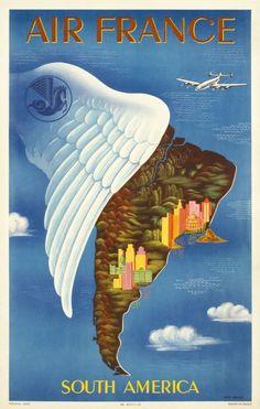 Sudamérica en ese entonces versión Air France.