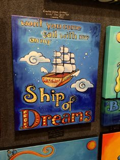 Perfect inspiration for a child's room, painted by Noelle Dass Holiday Market, Child's Room, Gift Guide, Sailing, Kids Room, Marketing, Children, Gifts, Inspiration