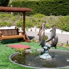 15 Wonderful Small Front Yard Landscaping Ideas With Fountain Backyard Pavilion, Outdoor Pavilion, Backyard Cabin, Small Front Yard Landscaping, Backyard Landscaping, Landscaping Ideas, Patio Ideas, Garden Ideas, Modern Gazebo