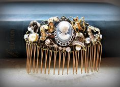An almost-all-in-one hair comb (old, new, and blue) for your big day. #etsy #etsyweddings