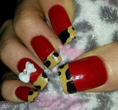 My Leopard tip nails