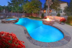 Designer Pools and Outdoor Living - traditional - Pool - Austin - Designer Pools & Outdoor Living Backyard Pool Designs, Swimming Pool Designs, Swimming Pools, Backyard Ideas, Pool Backyard, Backyard Paradise, Fire Pit Area, Fire Pits, Pool Contractors