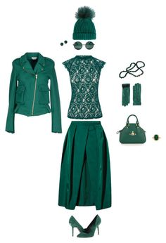 Total emerald by cardsdesign on Polyvore featuring Oasis, CYCLE, Burberry, Vivienne Westwood, Kenneth Jay Lane, Dolce&Gabbana, Jil Sander Navy and YHF