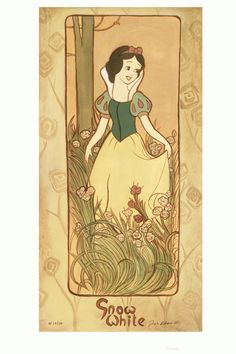 Snow White By Tricia Buchanan-Benson Giclee On Canvas