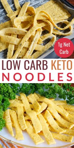 Homemade Keto Egg Noodles Recipe - A keto noodles recipe made with 5 basic ingredients plus optional spices. The low carb noodles go well with keto friendly pasta sauces. Keto Foods, Ketogenic Recipes, Diet Recipes, Healthy Recipes, Cooking Recipes, Ketogenic Diet, Cooking Tips, Keto Pasta Recipe, Low Carb Noodles