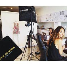 Busy day at the office / studio today with  @albertsupangi GEx #littlejoewoman #bali #islandlife #bosswoman #rockchic #fashion #modeloffduty #style #hautehippy #lovemyjob #newcollection www.LittleJoeWoman.com
