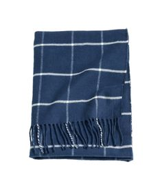 Check this out! Baby blanket in soft, woven checked fabric with fringe on short sides. Size 28 x 35 in. - Visit hm.com to see more.