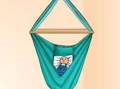 Eine Babyhängematte ist eine Schaukel, die man in den meisten Babyfachgeschäften kaufen kann oder man kann sie auch zuhause für den Bruchteil des Preises nähen. Babys, die jünger als neun Monate sind, genießen das Liegen in der Hängematte, ...