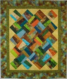 'Crooked on Purpose' by talkischeapquilts.blogspot.ca