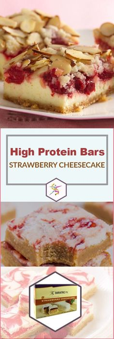 Cheesecake makes you think of guilt, but BariatricPal High Protein Bars Strawberry Cheesecake are quite the opposite. They're still as tantalizing as the fatty dessert, but they're a high-protein, sen
