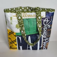 Recycled Tote Bag from Fused Plastic Bags Upcycled by akScrapz, $20.00